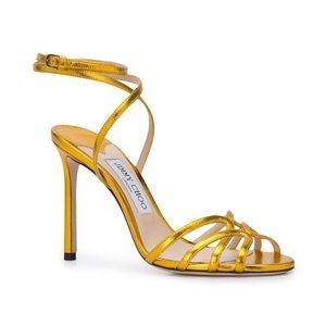 Jimmy Choo Mimi Ankle Strap Metallic Sandals